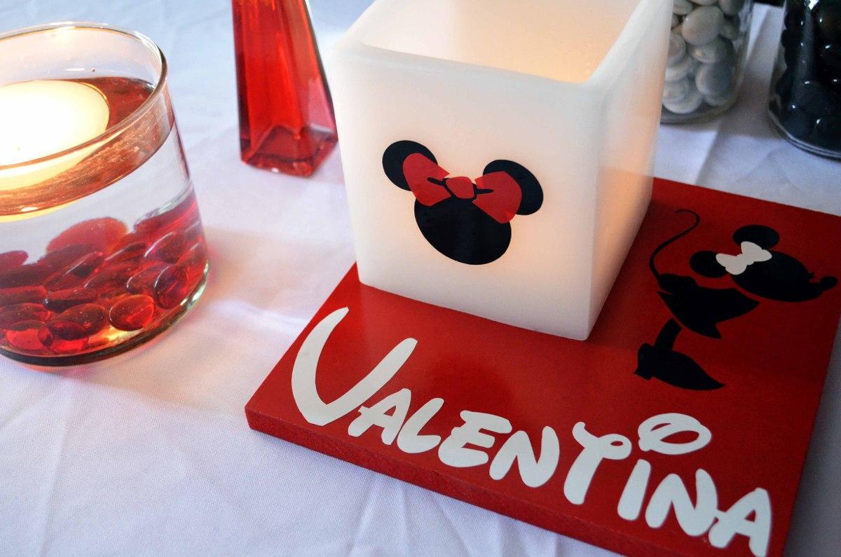 Centro De Mesa Minnie Mouse Rojo 10 Piezas Aluzza. - $ 1,150.00 en ...