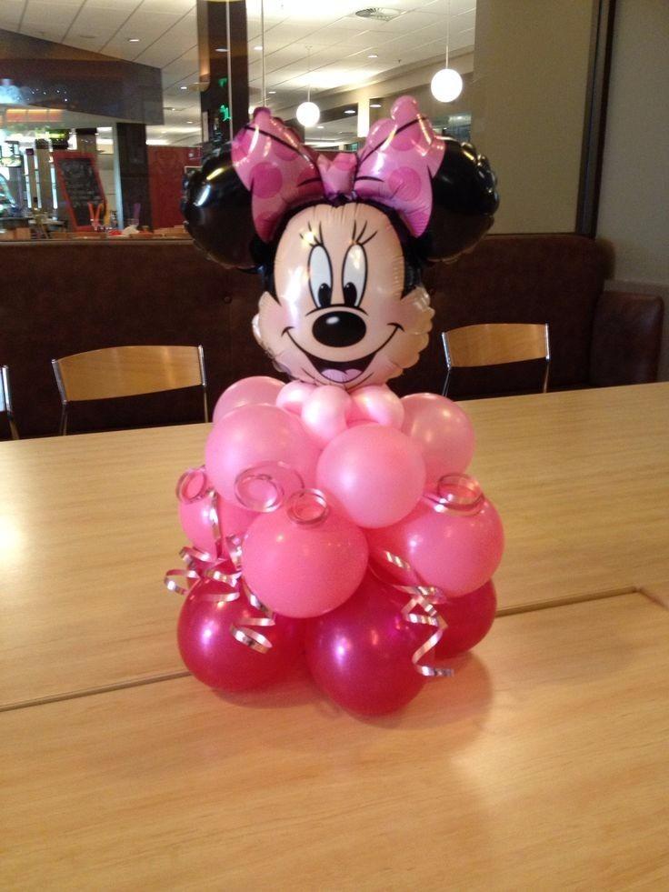 centro de mesa minnie o mickey decoracin en globos
