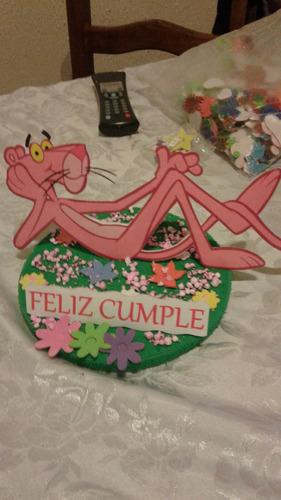 centro de mesa o adorno pantera rosa