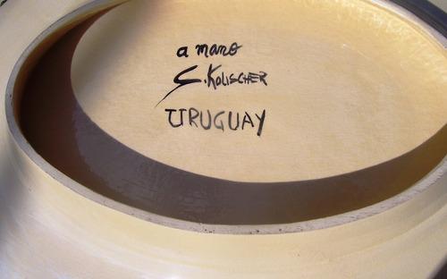 centro de mesa o despojador sello s.kolischer a mano uruguay