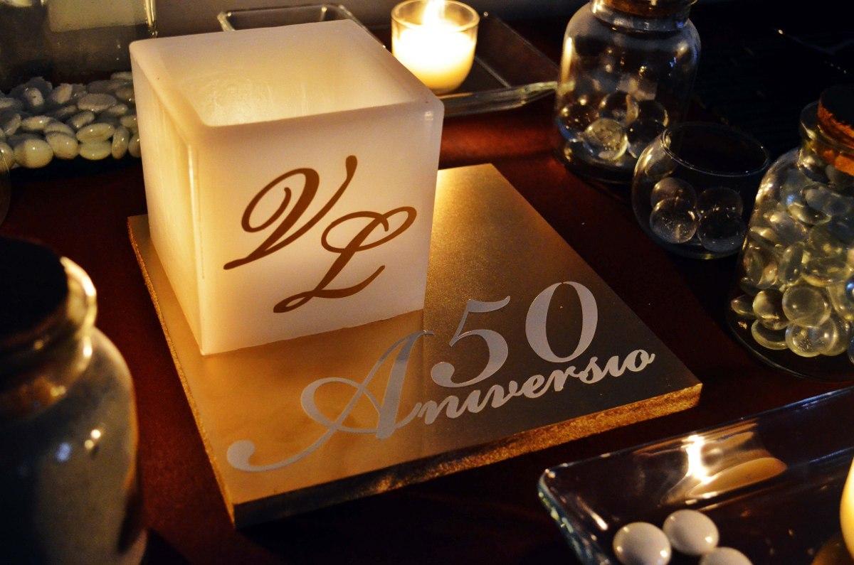 Centro de mesa para 50 aniversario aluzza en for Decoracion 40 aniversario de bodas