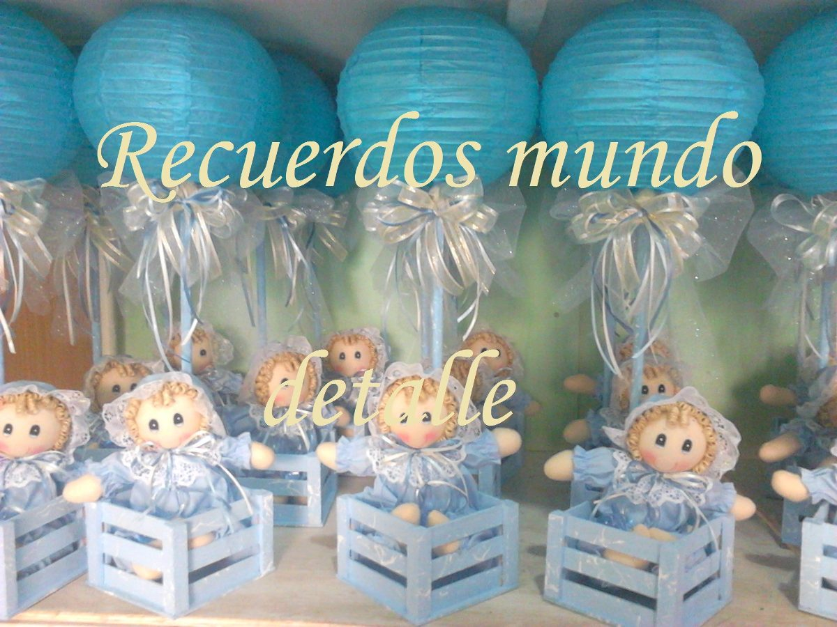 Centros de mesa para baby shower nino pictures to pin on for Mesa baby shower nino
