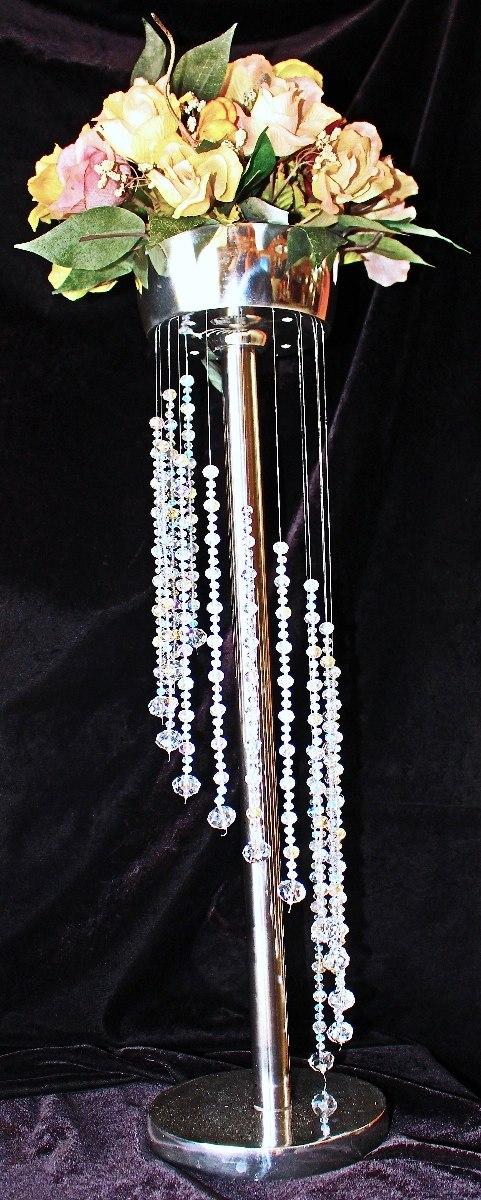 Centro de mesa para banquetes de pewter con cristales 001 - Cristales para mesas precios ...