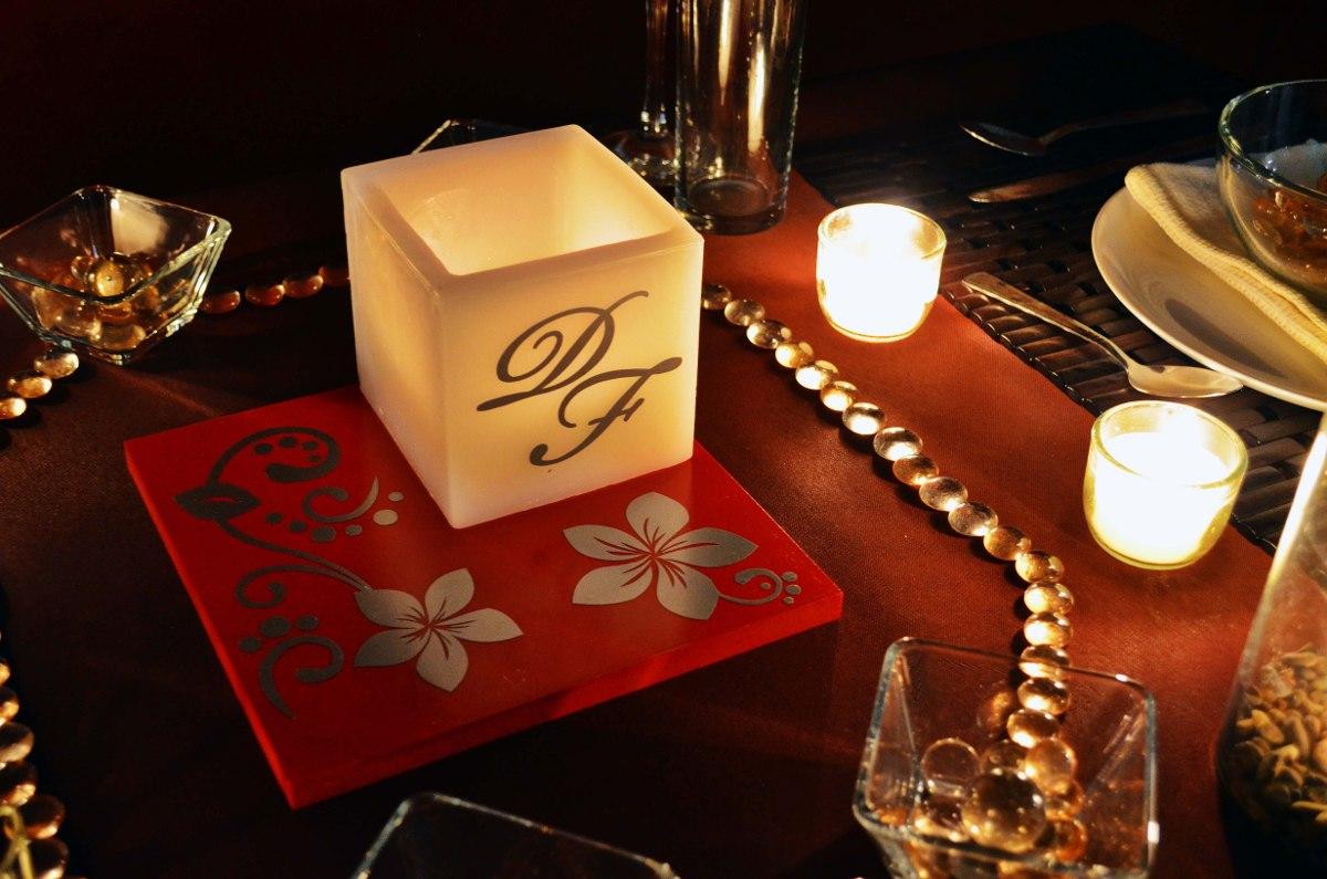 Centro de mesa para boda en tonos rojo y plateado aluzza - Precios de centros de mesa para boda ...