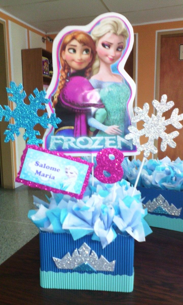 Centro de mesa para fiesta infantiles frozen bs for Mesas fiestas infantiles