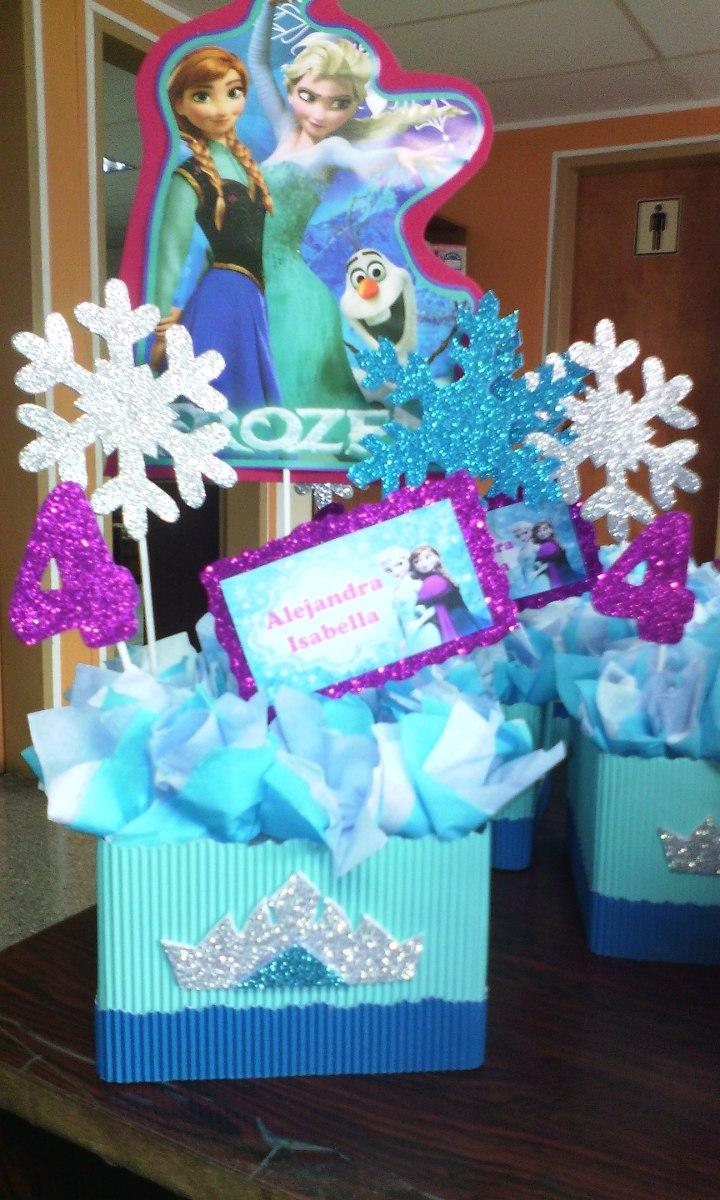 Centro de mesa para fiesta infantiles frozen bs for Mesa infantil