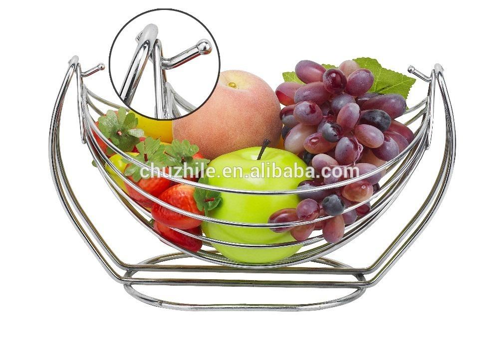Centro de mesa para frutas importada cromada comedor for Centros de mesa para comedor