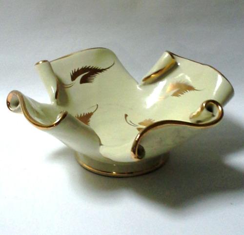 centro de mesa pequeño porcelana italiana años 50