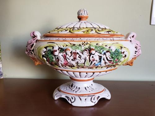 centro de mesa porcelana italiana