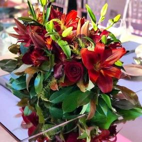 Centro De Mesa Principal Arreglo Floral Casamientos 15 Años