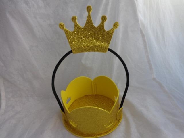 Centro Mesa Principe Princesa Tiara Coroa Festa Rei Rainh Nq Np Realeza