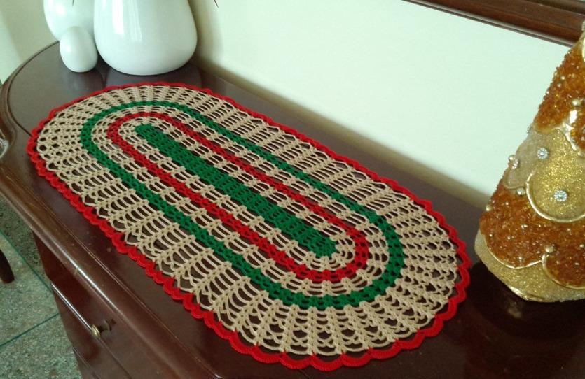Centro de mesa tejido a mano tapete crochet 100 algodon for Centro de mesa a crochet