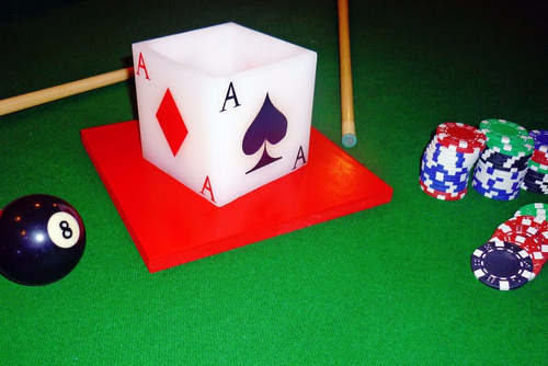 centro de mesa tema casino 10 piezas aluzza