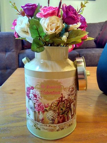 centro de mesa vintage (incluye flores artificiales)