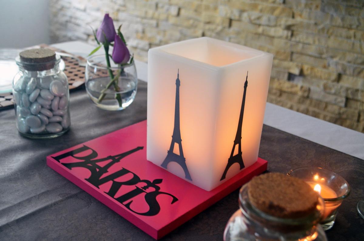 Centro de mesa xv a os tematicos de paris aluzza 115 for Decoracion xv anos paris