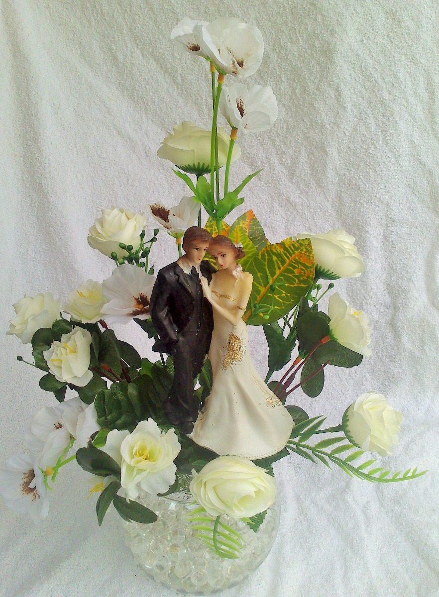 Centro De Mesa,pecera Con Luz,boda: De Plata, De Oro