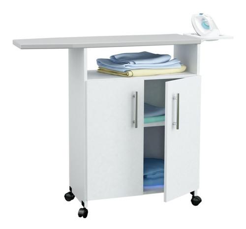 centro de planchado estante para guardado blanco sin interes
