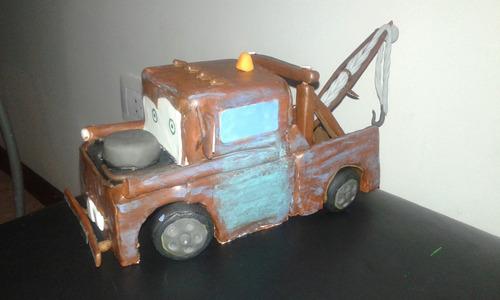 centro de torta de mate de cars