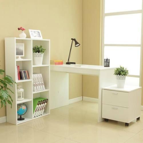 centro de trabajo estante modular + escritorio + cajonera