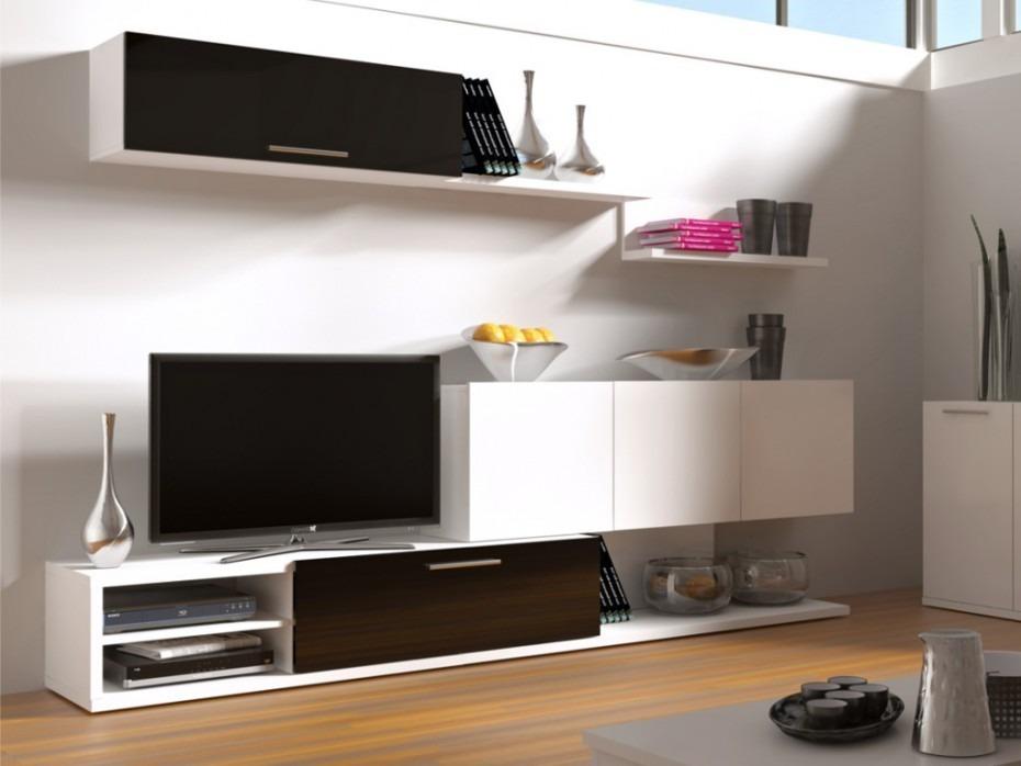 Centro Entretenimiento, Modular Tv Comedor Con Puertas - $ 5.599,00 ...