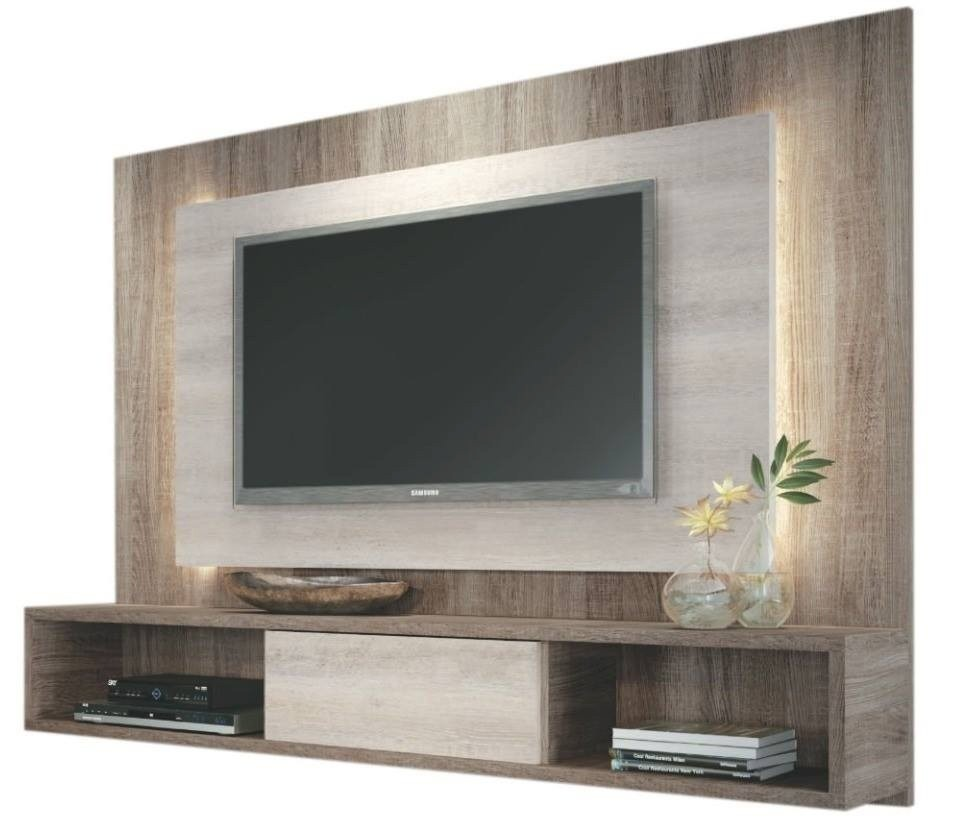Centro de entretenimiento mueble para tv con luces bs for Modulares para tv modernos