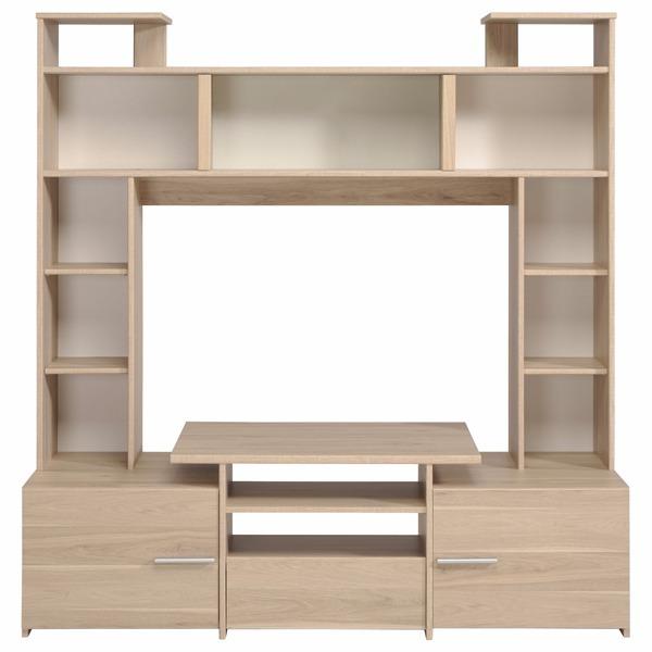 Centro entretenimiento mueble tv dise o moderno madera 5 en mercado libre - Mueble tv diseno ...