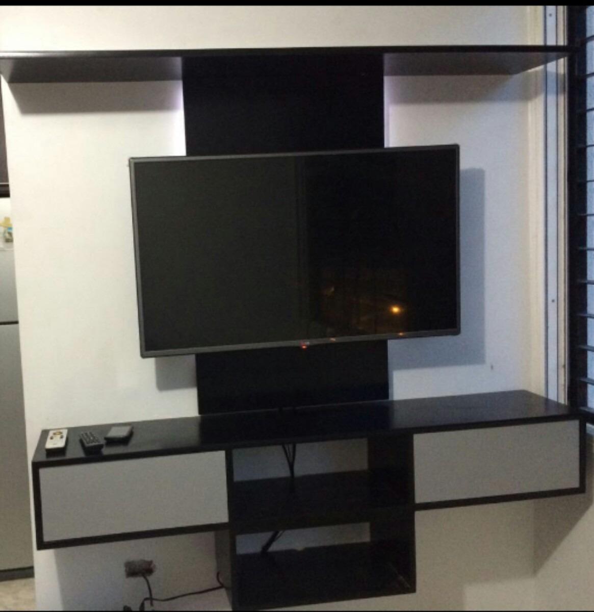 Centro entretenimiento tv blu ray dvd mueble repisa flotante bs en mercado libre - Mueble tv estrecho ...