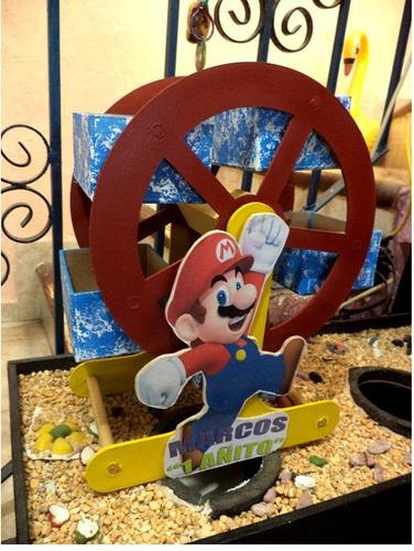 centro infantil rueda de la fortuna madera dulcero mesa