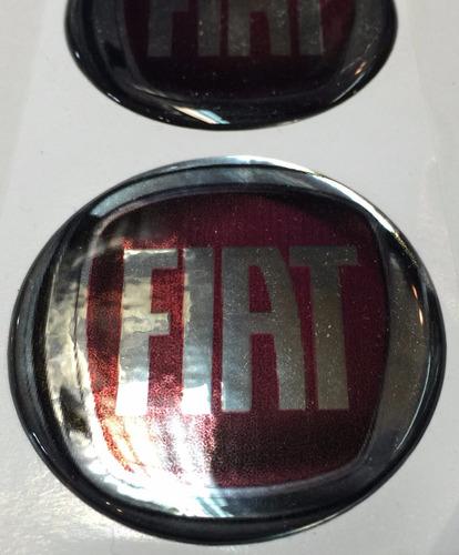centro llantas tazas emblema logo 3d fiat 55mm pack.x4