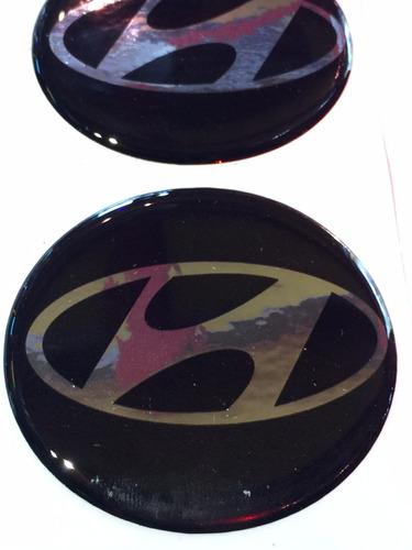 centro llantas tazas emblema logo hyundai 55mm pack.x4