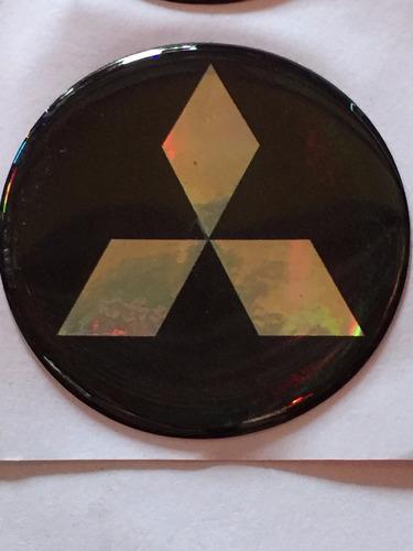 centro llantas tazas emblema logo mitsubishi 55mm pack.x4