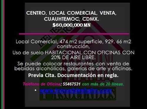 centro, local comercial, venta, cuauhtemoc, cdmx.