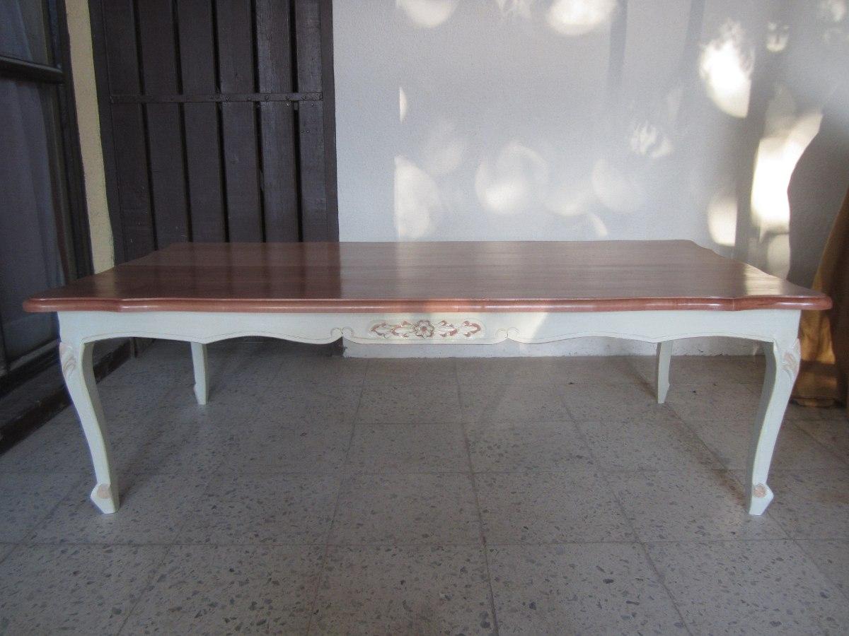 Mesa centro normando grande madera solida en - Mesa centro madera ...