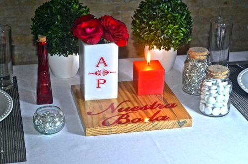 centro mesa boda piezas