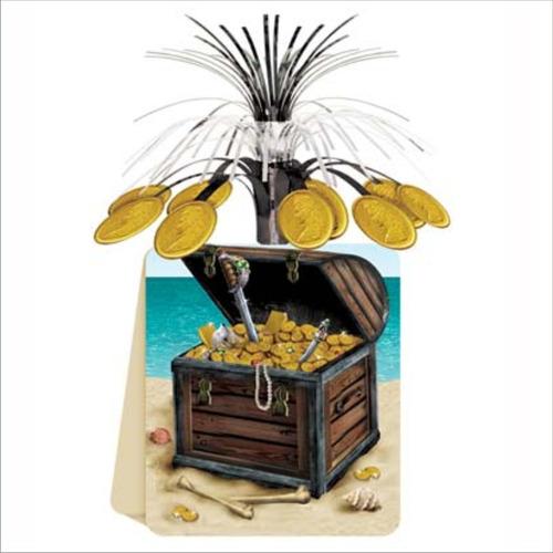 centro mesa cofre pirata articulos fiesta animacion