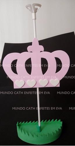 centro mesa coroa rainha realeza 5 unidades enfeite menina