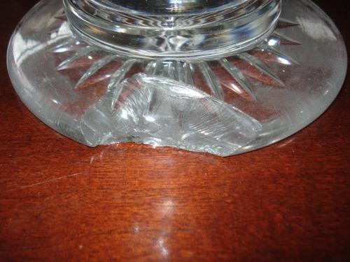 centro mesa cristal antiguedades