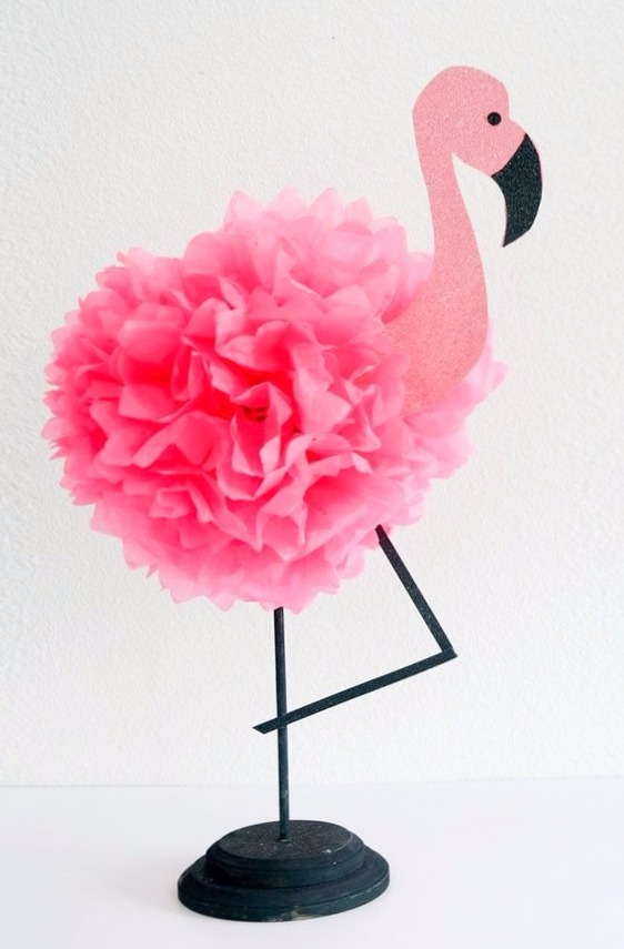 Centro Mesa Flamingos Fiesta Infantil Bs 1 85 En