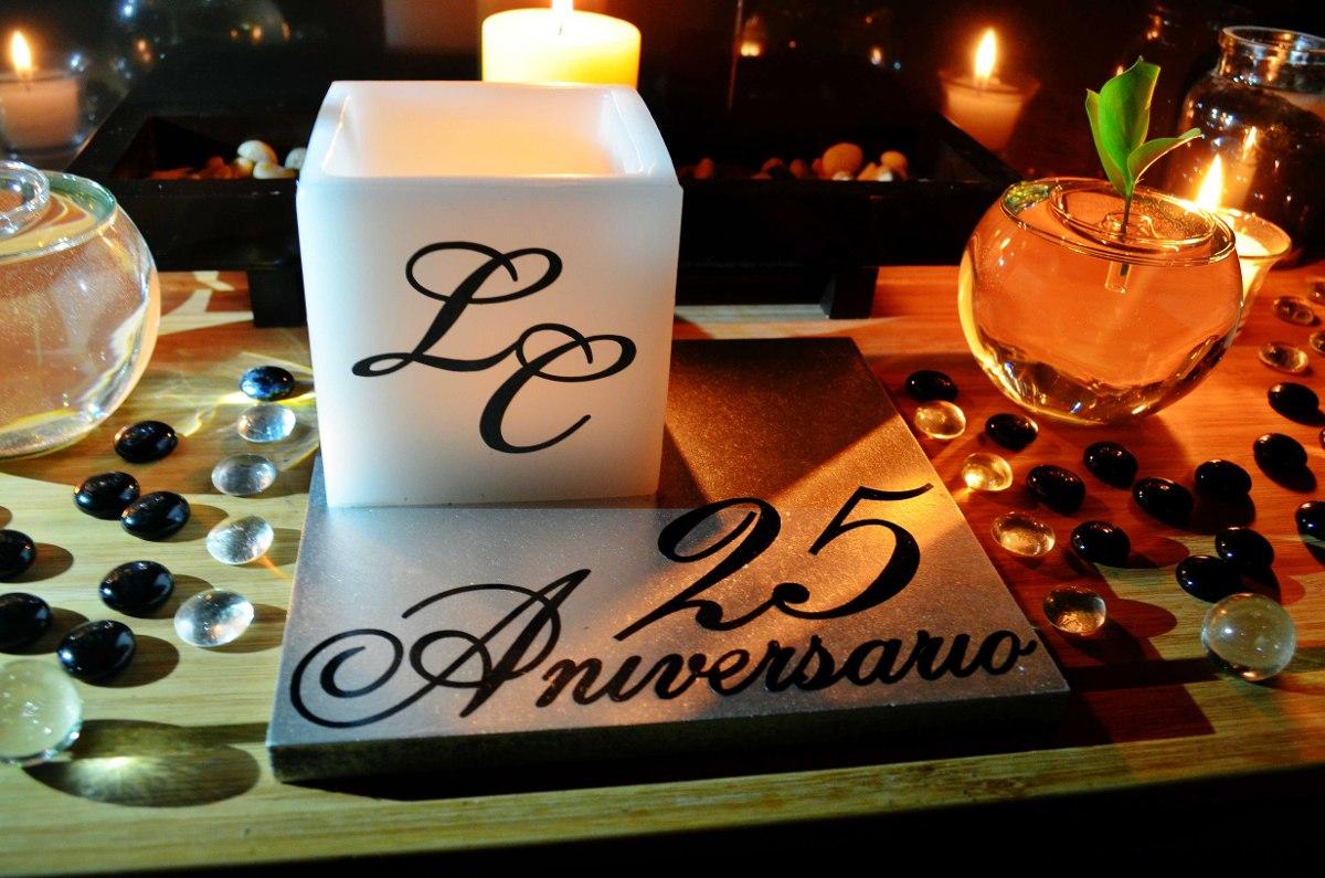 Centro De Mesa Para 25 Aniversario Aluzza. - $ 120.00 en ...
