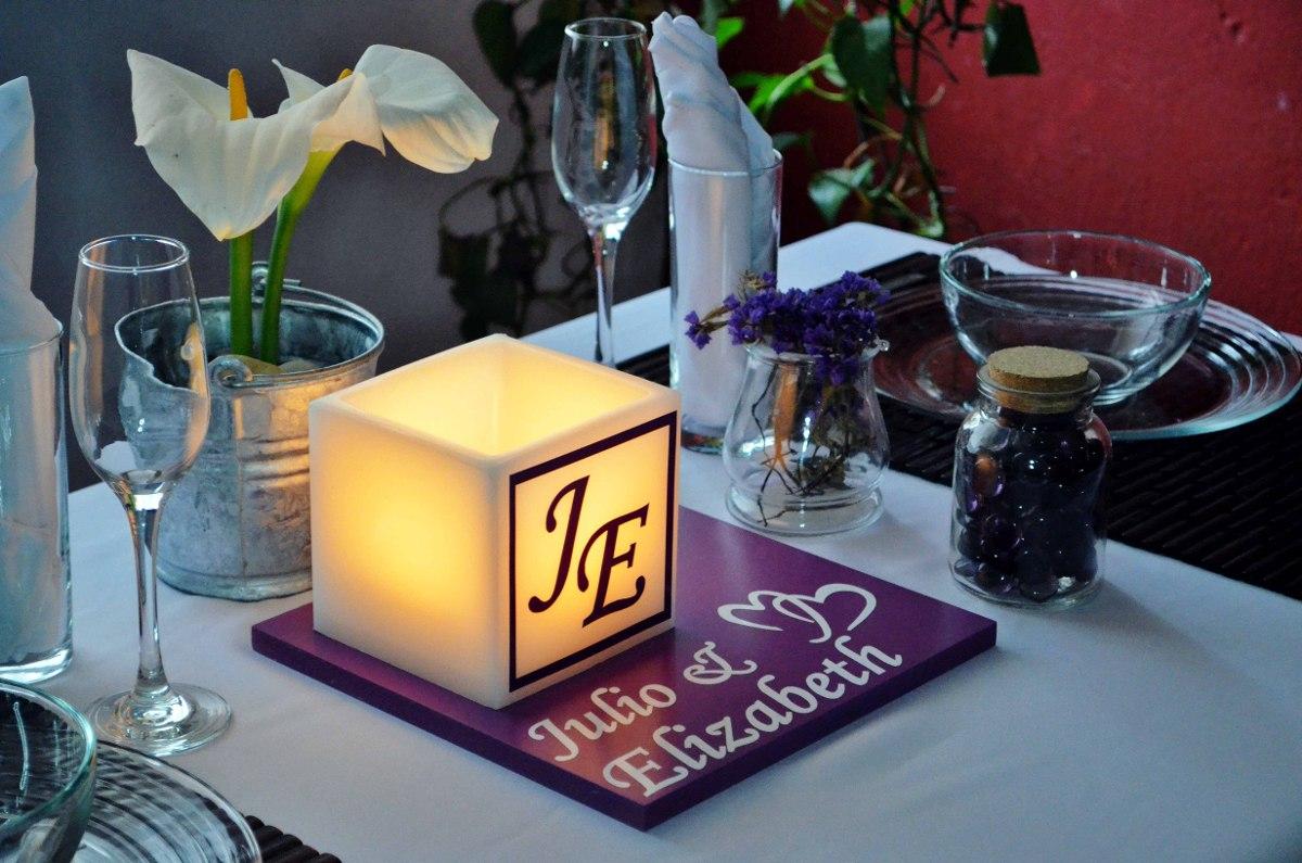 Centro de mesa para boda en tono morado y blanco aluzza en mercado libre - Precios de centros de mesa para boda ...