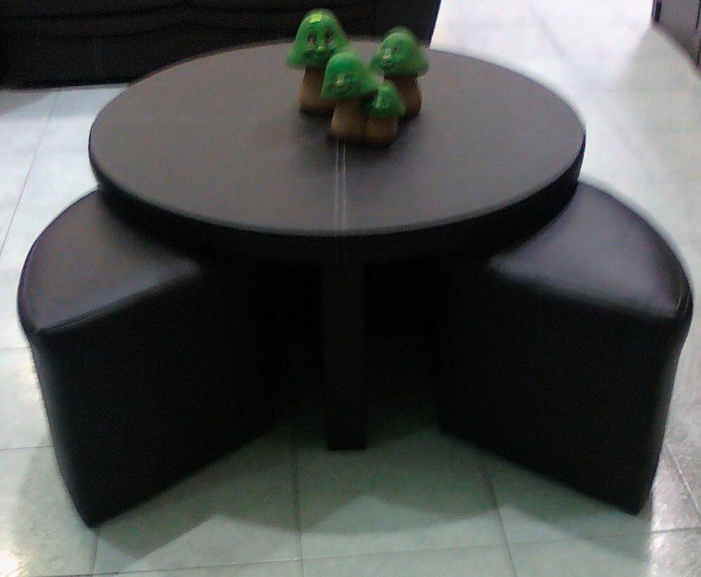 Mesas de centro minimalistas modernas 4 taburetes sala op4 for Mesas de centro pequenas