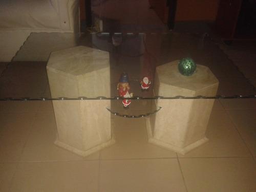 centro vidrio mesa