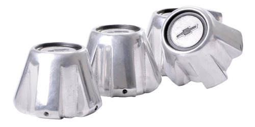 centros cono de llanta chevy serie 2 aluminio collino x 4 un