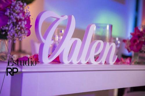 centros de mesa boda, 15 años, cumpleaños, letras corporeas