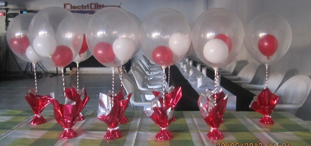 Centros de mesa con globos bautismo 15 a os cumplea os - Bombas para decorar ...