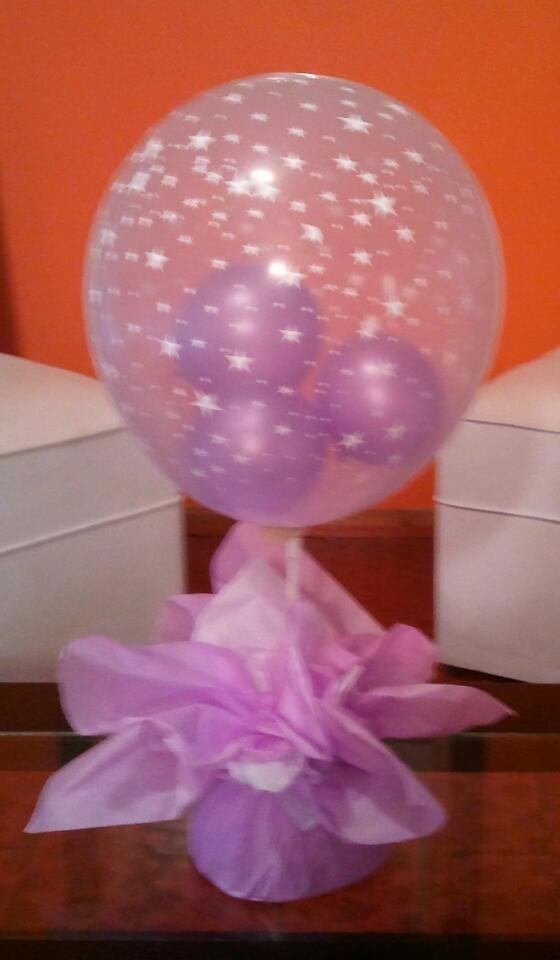centros de mesa con globos sweet bee