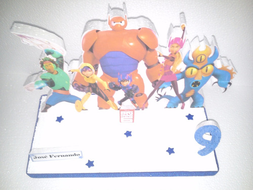 centros de mesa de big hero 6