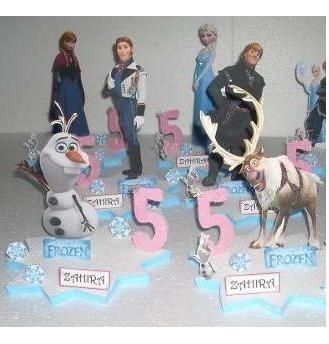 centros de mesa de frozen y sus amigos