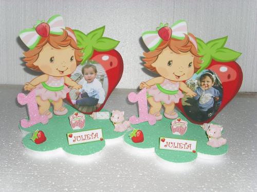 centros de mesa de futillita bebe con foto de la cumpleañera