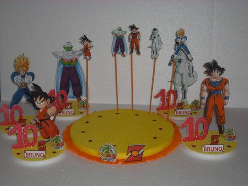 centros de mesa de gokun y sus amigos  de 25cm
